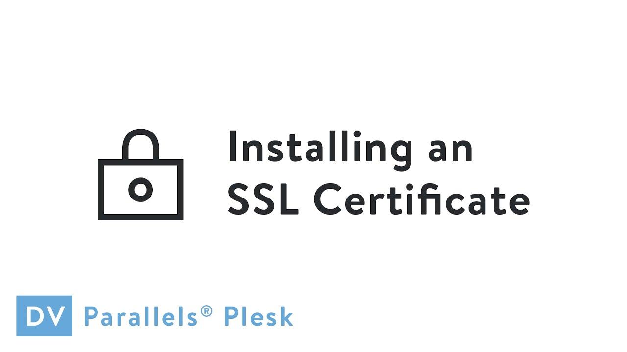 Media Temple Installing An Ssl Certificate In Plesk Youtube