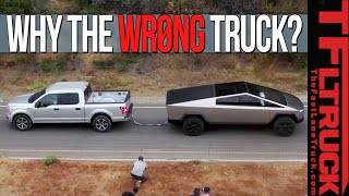 This Is Why the Tesla Cybertruck Pulled The WRONG Truck In A Tug of War!