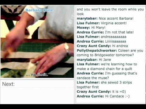 TUTORIAL: How to make a strip-pieced diamond chain border
