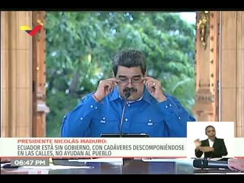 Presidente Maduro ofrece ayuda a Ecuador ante los graves problemas por el coronavirus