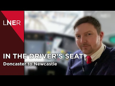 The Train Drivers view - Doncaster to Newcastle with LNER