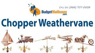 Budgetmailboxes.com | Good Directions 694p Chopper Weathervane - Polished Copper