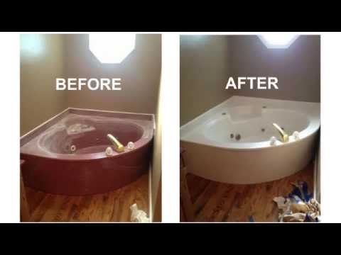 bathtub reglazing before after surface renew