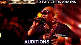 "Janice Robinson 50 year old sings  a WOW Original song ""Dreamer"" AUDITIONS week 1 X Factor UK 2018"
