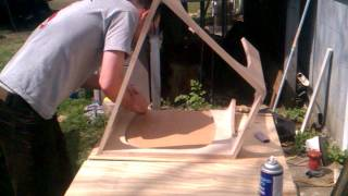 How To Veneer A Table Using Contact Cement And Paper Backed Veneer