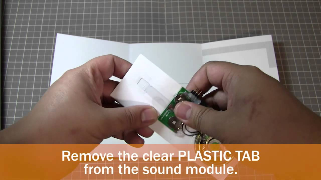 Diy How To Make A Musical Greeting Card With Sound Module Youtube