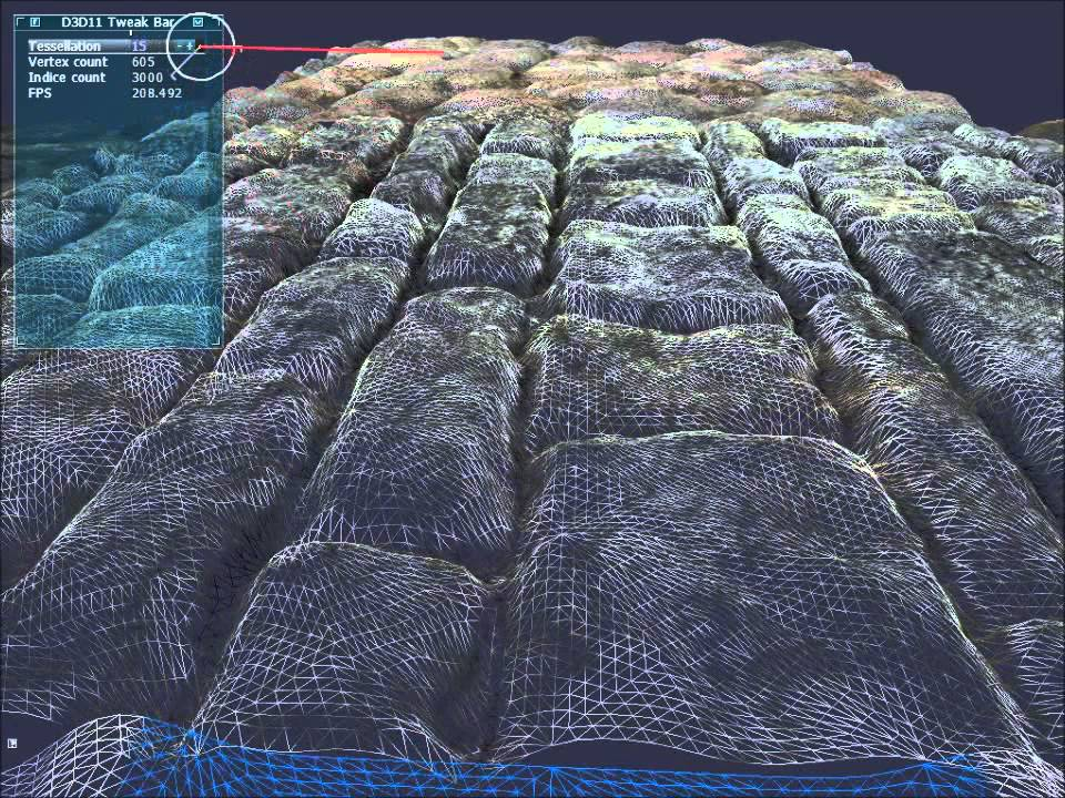 D3d11 tessellation with displacement mapping youtube for Floor normal map
