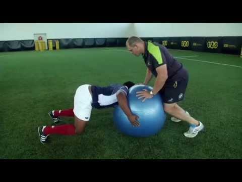 Scrum Prep Exercises Swiss Ball squeezes