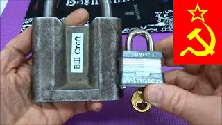 (469) HUGE Antique Russian Padlock Picked Opened