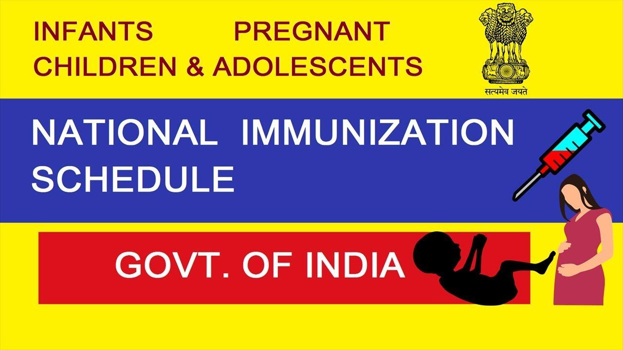 National Immunization Schedule Latest Immunization Schedule Immunization  Schedule Learning Spindle
