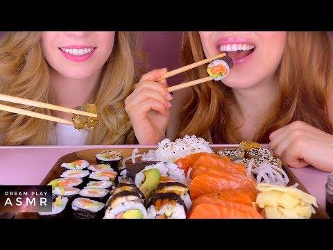 ★ASMR★ Geschwister Sushi Battle (eating sounds /no talking) | Dream Play ASMR