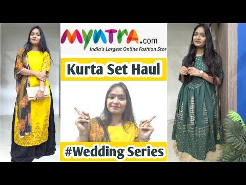 myntra-kurta-set-haul- -myntra-wedding-kurta-set-haul- -myntra-haldi-&-mehndi-wear-haul
