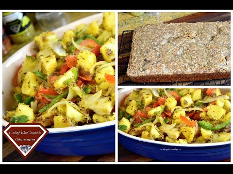 SMOTHERED POTATOES with PEPPERS AND ONIONS |LAUSD COFFEECAKE RECIPE UPDATE |Cooking With Carolyn