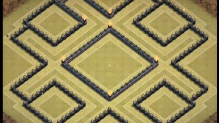 Clash of clans playclashofclans EPIC BASE TH9 version with 'AIR SWEEPER' 2015