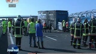 Un camion prend feu sur l'A85 (Indre-et-Loire)