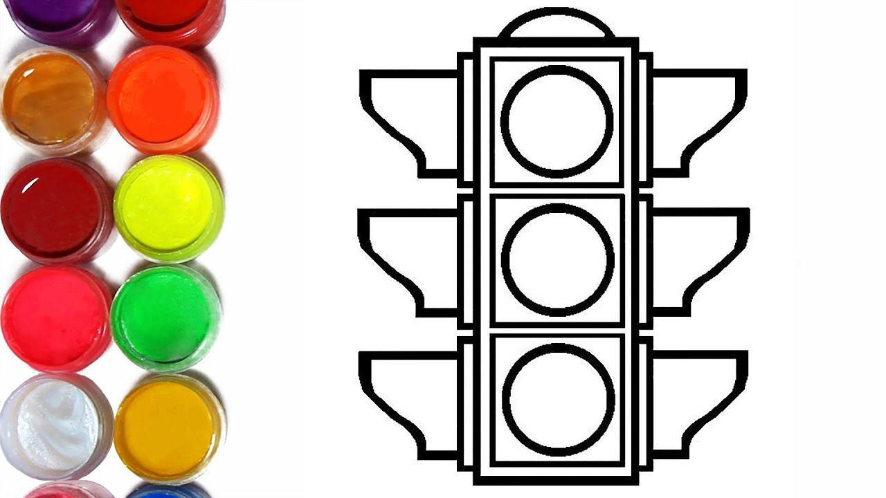 Coloring Page Traffic Light L BEST LEARNING Rainbow Colors Videos For Kids