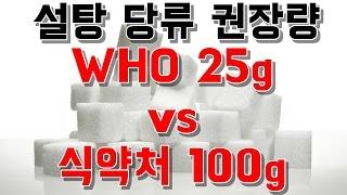 당류 1일 권장량-세계보건기구 WHO 가공식품 25g,…