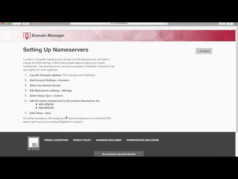 How to Import a Domain - Domain Manager - REI.solutions Tutorial