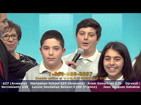 Vahan & Anoush Chamlian Armenian School at Armenia Fund Telethon 2015