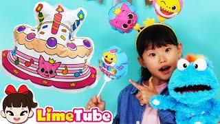 라임의 핑크퐁 색칠하는 팡팡풍선 색칠공부 놀이 마법의 생일 케이크 Pinkfong Coloring Balloon with Magic Cake toys review