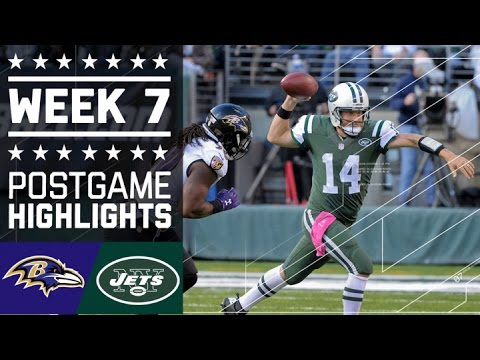 Ravens vs. Jets | NFL Week 7 Game Highlights