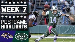 Ravens vs. Jets | NFL Week 7 Game Highlights