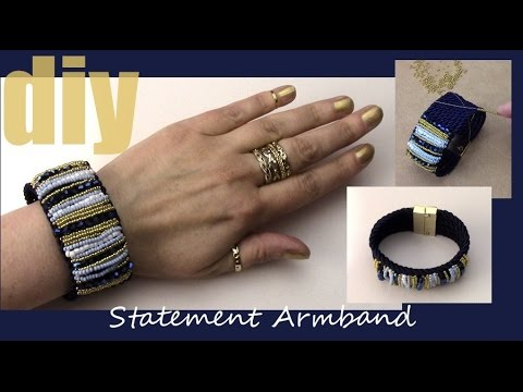 schmuck selber machen armband statement perlen traum youtube. Black Bedroom Furniture Sets. Home Design Ideas
