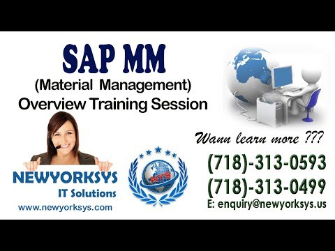 SAP MM(Material Management) - Training Session-1 - Tutorial - Newyorksys.com