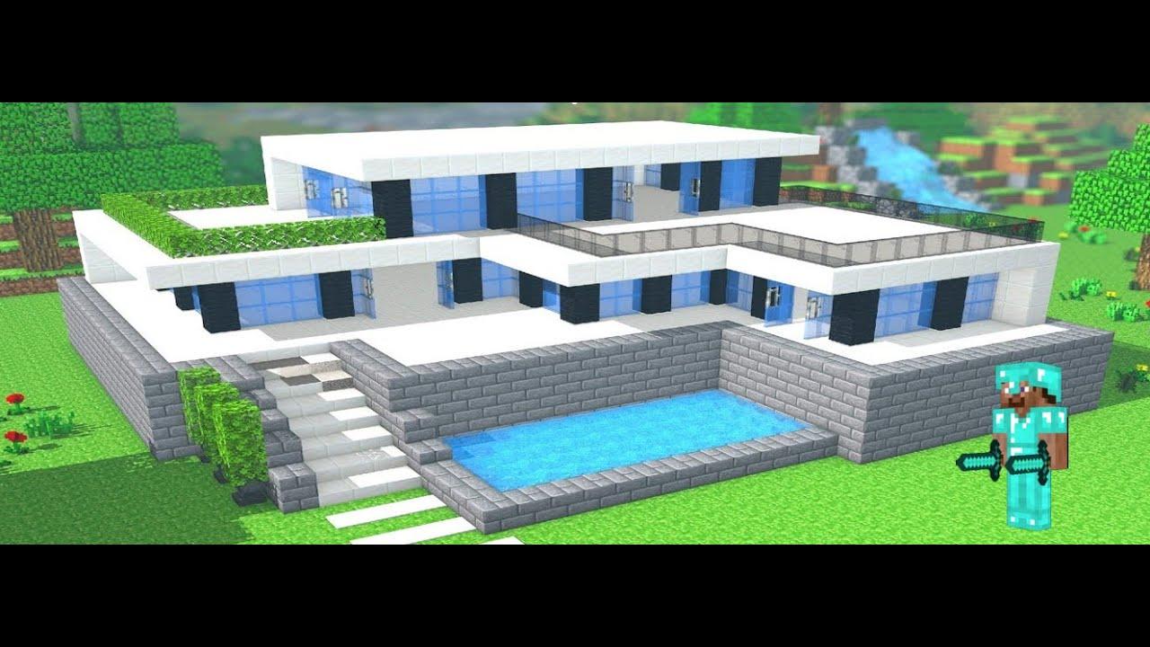 Tuto Facile Minecraft Maison Moderne Youtube