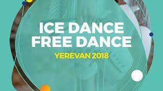 Ushakova Arina / Nekrasov Maxim (RUS)   Ice Dance Free Dance   Yerevan 2018