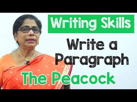 How to Write a Paragraph about The Peacock in English | Composition Writing  | Reading Skills