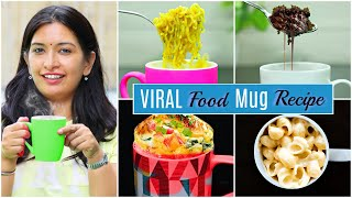 4 VIRAL MUG Food Recipes in 2 Minutes | CookWithNisha