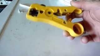 Стриппер для снятия изоляции с коаксиальных кабелей