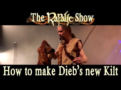 How To Make Dieb's New Kilt With Our Own Tartan - Rapalje Show 3