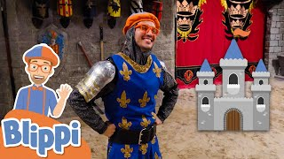 Blippi Explores A Castle And Learns History For Kids | Educational Videos For Kids