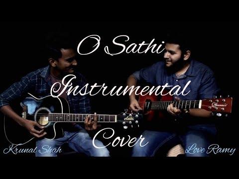 O Sathi - Guitar Cover (Instrumental) | Krunal Shah | Love Ramy | Prasham Shah