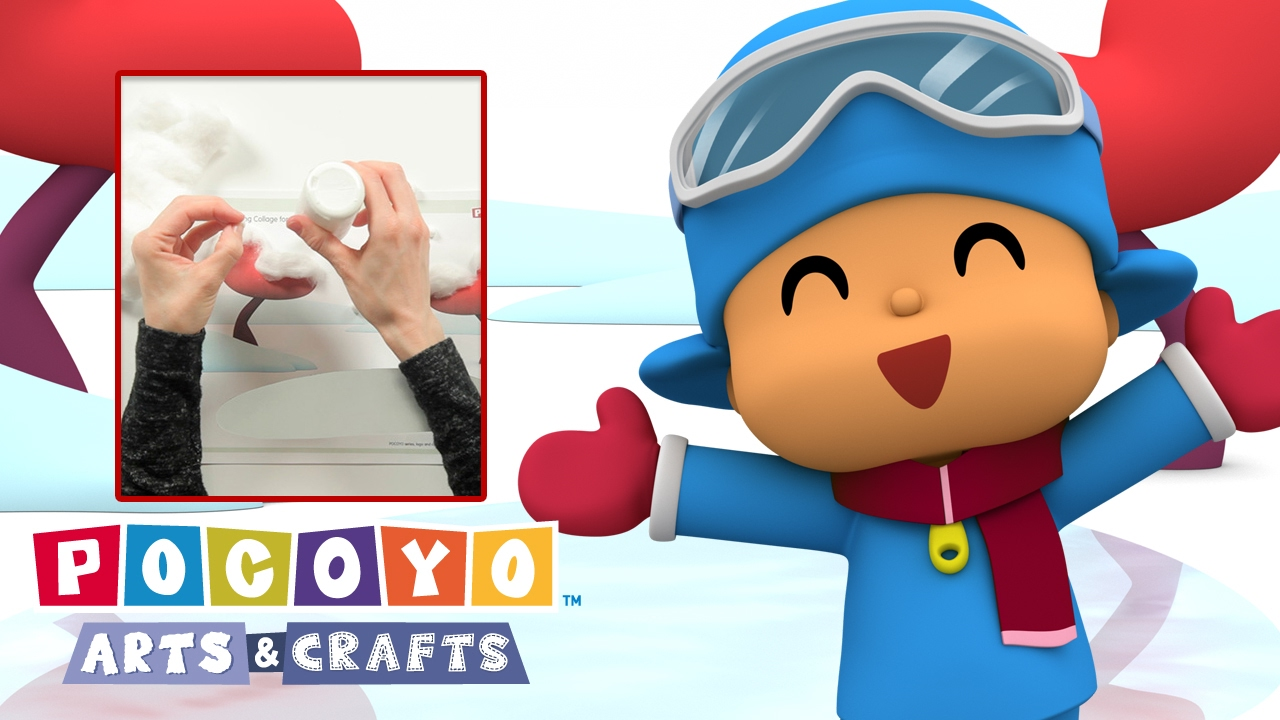 Youtube Art And Craft: Pocoyo Arts & Crafts: Winter Collage