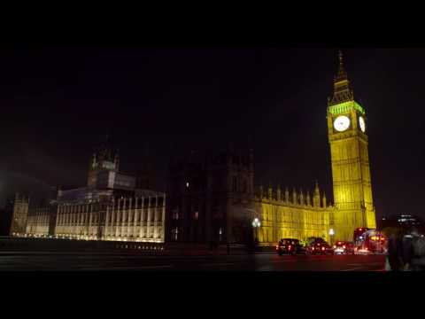 Timelapse of Westminster Palace at Night