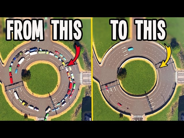 AMAZING Fix From 17% to Almost 90% Traffic in Cities Skylines!!!