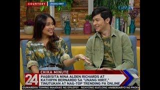 24 Oras: Pagbisita nina Alden at Kathryn sa 'Unang Hirit,' tinutukan at nag-top trending pa online