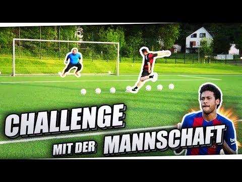 LUSTIGE FUßBALL CHALLENGE MIT UNSERER MANNSCHAFT!🔥⚽ EISKALTER ELFMETER? PMTV