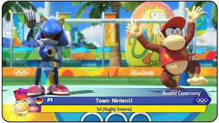 Mario and Sonic at the Rio 2016 Olympic Games (Wii U) - Rugby Level : MAX