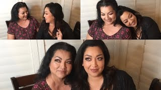 TURNING MY MOM INTO ME CHALLENGE - TWINNING!!  - MAKEUP TRANSFORMATION thumbnail