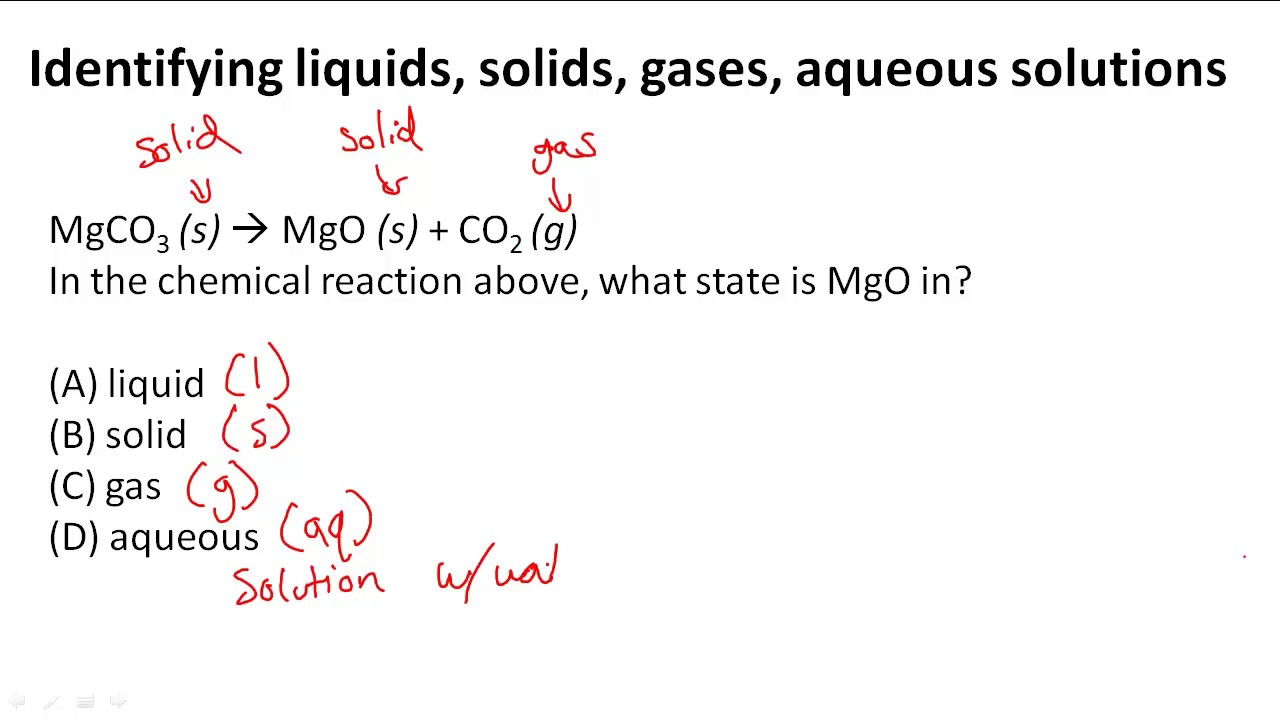 Identifying Liquids Solids Gases Aqueous Solutions Youtube