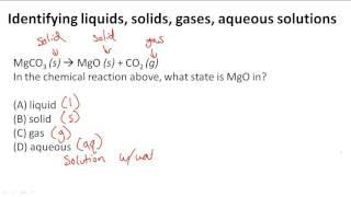 L'identification des liquides, des solides, des gaz, des solutions aqueuses