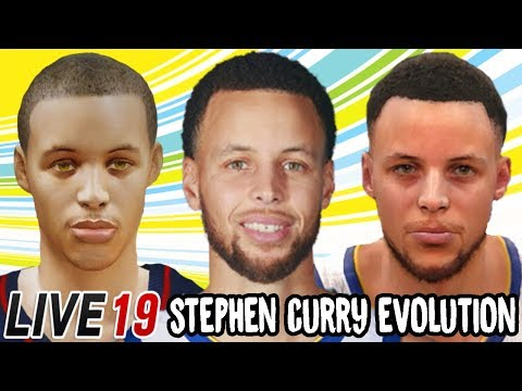 Stephen Curry Ratings and Face Evolution (NBA Live 10 - NBA Live 19)
