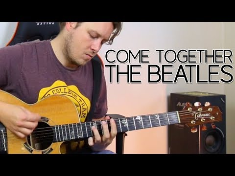 HOW TO PLAY COME TOGETHER BY THE BEATLES 🎸 GUITAR LESSONS BEGINNER CHORDS AND STRUMMING PATTERNS