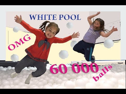 60 000 Balls Instead of Water in the Pool | Idoor Lekland Family Fun activities for Kids & Toddlers
