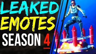 Fortnite SEASON 4 LEAKED EMOTES! - ALL 4 Season 4 Dance Emotes - Smooth Ride, Rocket Spinner More!