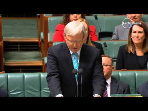 First blows struck: PM Kevin Rudd Vs Opposition Leader Tony Abbott